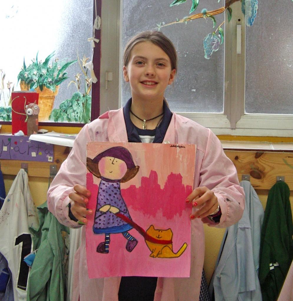 Ángela R,acrílico sobre lienzo. Taller Aceña - Olmedo, curso 2015 - 2016