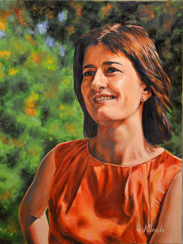 Raquel. Óleo sobre lienzo, Javier Olmedo. 2012