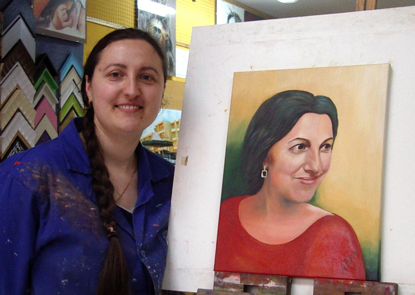 Ángela P, óleo sobre lienzo.Taller Aceña - Olmedo. Curso 2015 - 2016