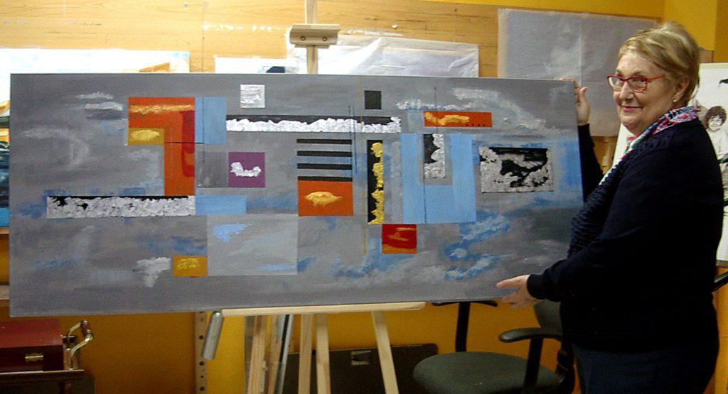 Marifé, acrílico sobre lienzo. Taller Aceña - Olmedo, curso 2015 - 2016