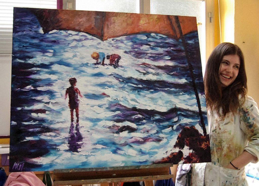 María, óleo sobre lienzo.Taller Aceña - Olmedo. Curso 2015 - 2016