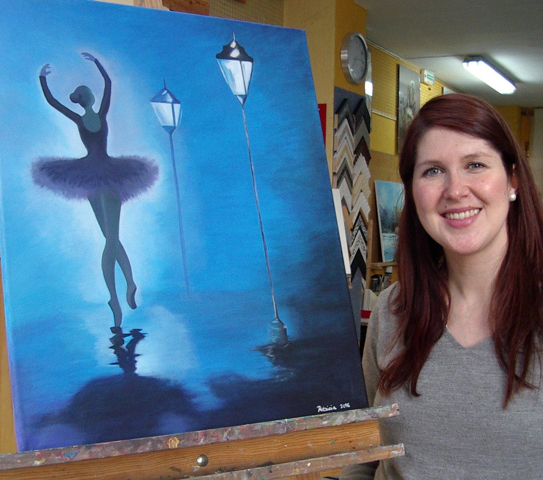 Patricia, óleo sobre lienzo. Taller Aceña - Olmedo, curso 2015 - 2016