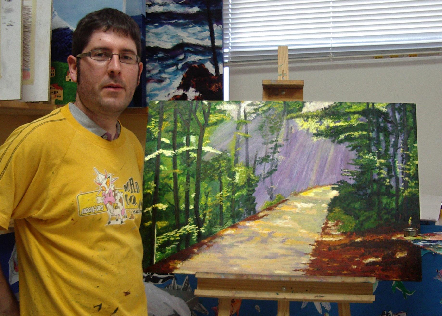 Fernando, óleo sobre lienzo. Taller Aceña - Olmedo, curso 2015 - 2016