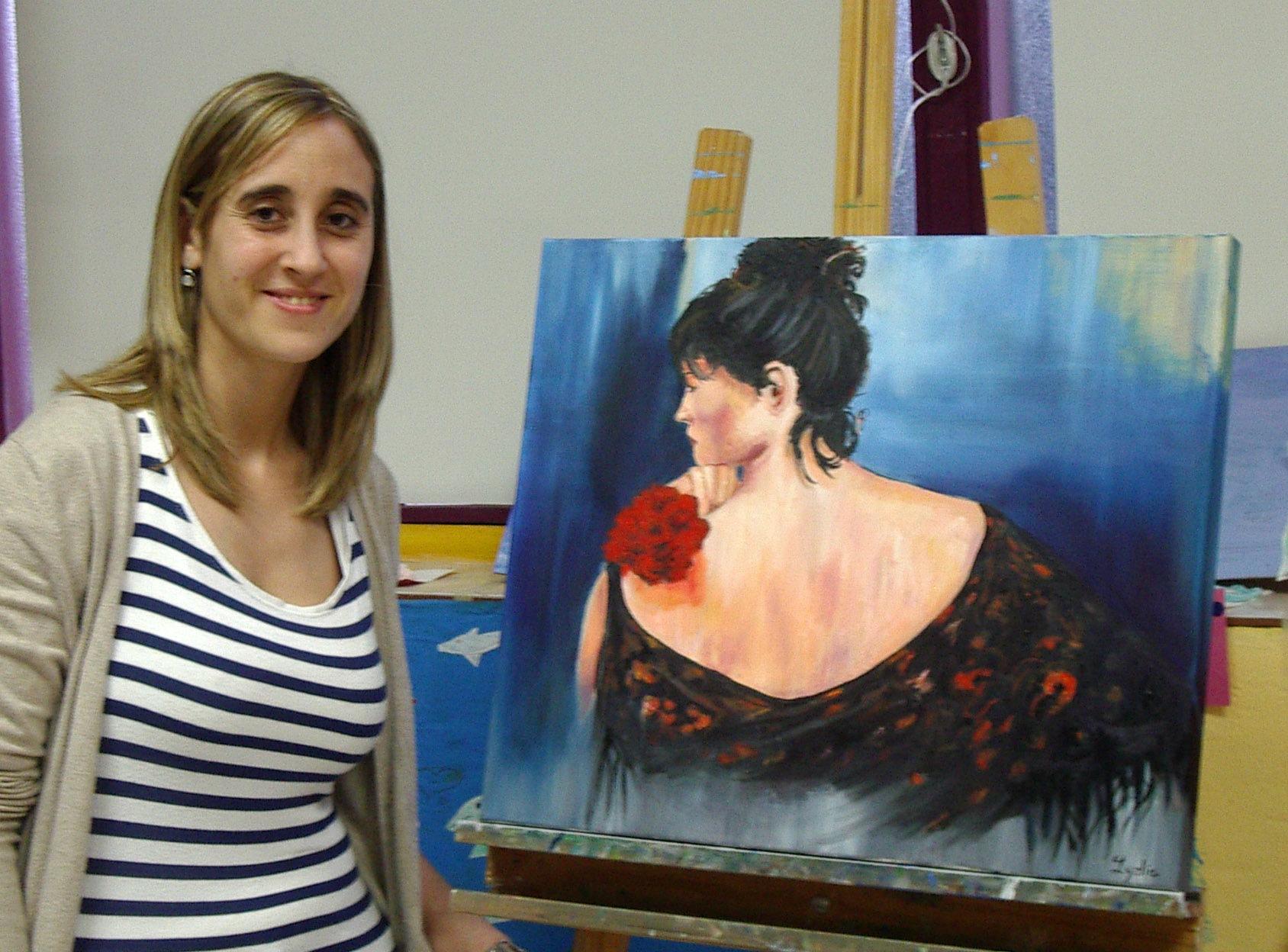 Lidia, óleo sobre lienzo.Taller Aceña - Olmedo. Curso 2015 - 2016