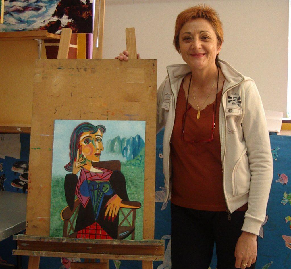 Mariam, óleo sobre lienzo. Taller Aceña - Olmedo, curso 2015 - 2016