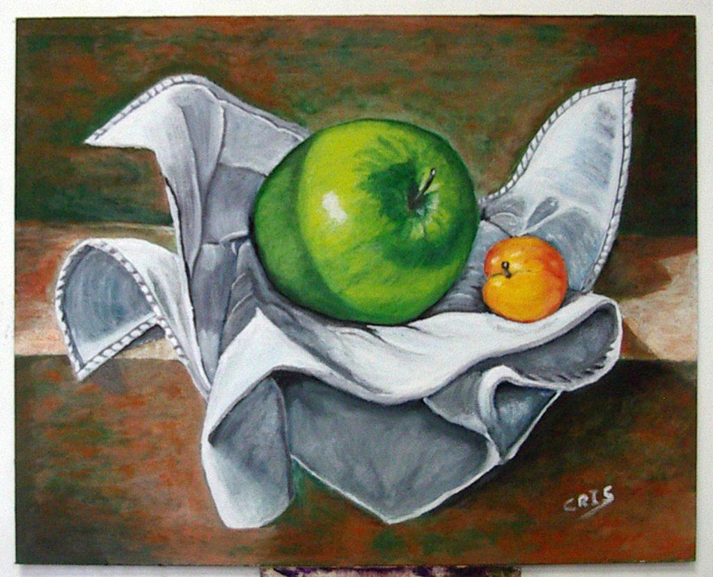Cristhian, óleo sobre lienzo.Taller Aceña - Olmedo. Curso 2015 - 2016