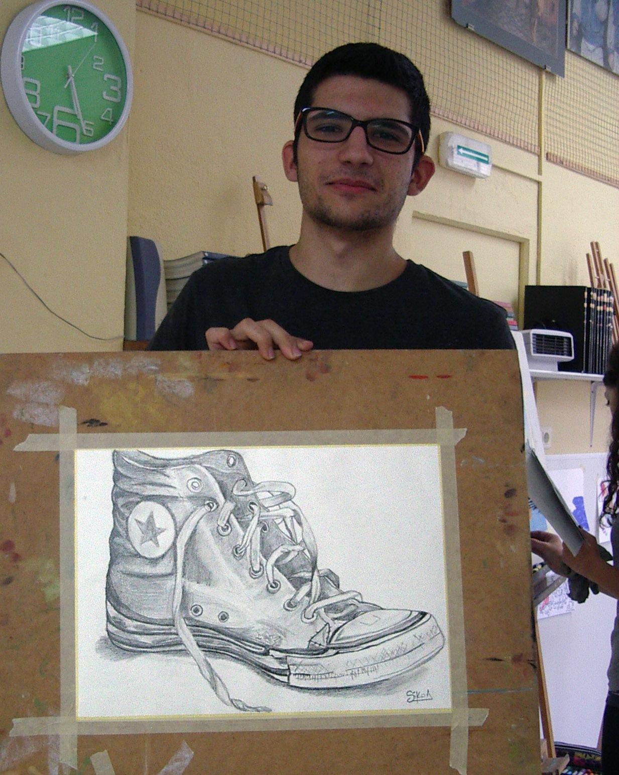 Raul, grafito.  Taller Aceña - Olmedo, Curso 2016 - 2017