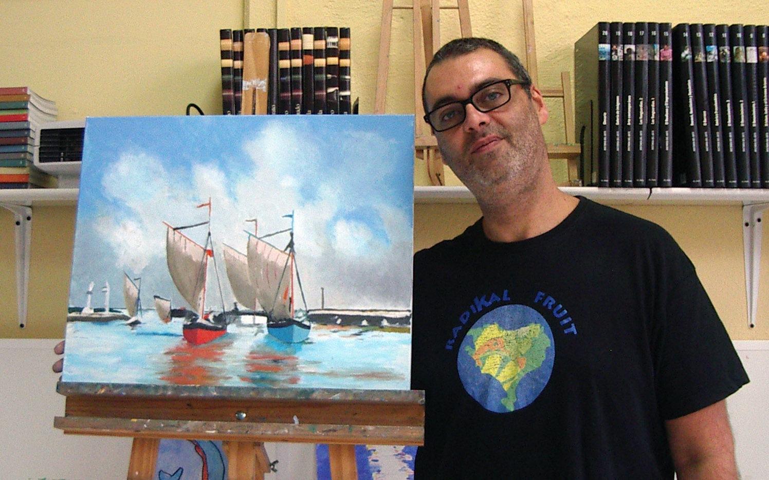Fernando, óleo sobre lienzo. Taller Aceña - Olmedo. Curso 2016 - 2017