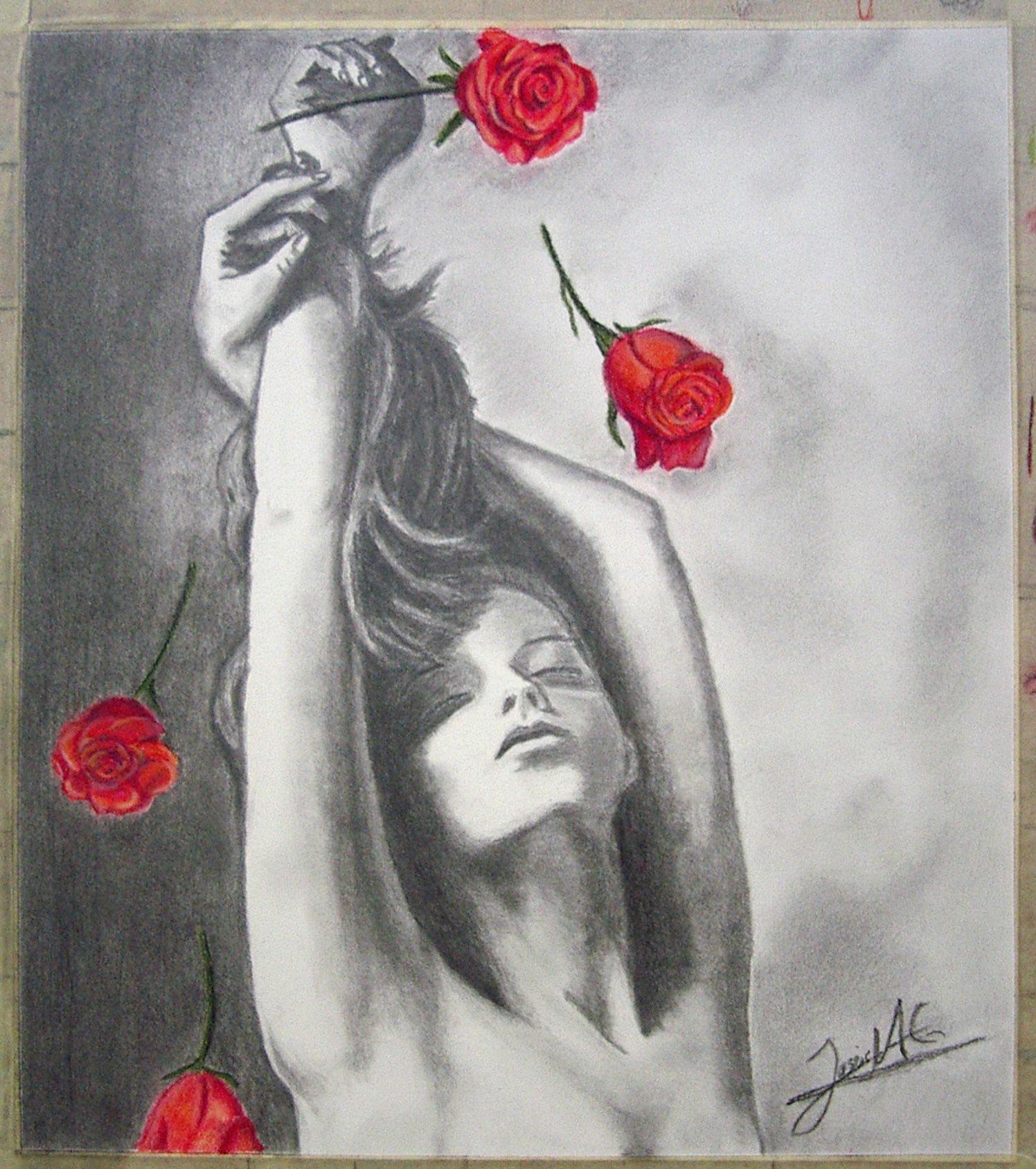 Jesús Mari, grafito. Taller Aceña - Olmedo. Curso 2016 - 2017
