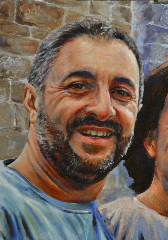 Oscar, fragmento. Óleo sobre lienzo, Javier Olmedo. 2012