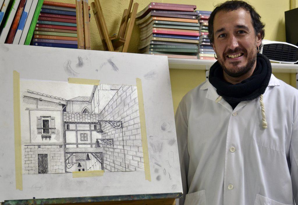 Raúl, grafito. Taller Aceña - Olmedo. Curso 2016 - 2017
