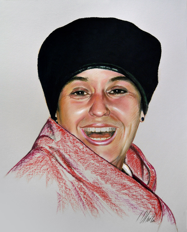 Ángela. Pastel, 40 x 50 cm. Javier Olmedo, año 2017