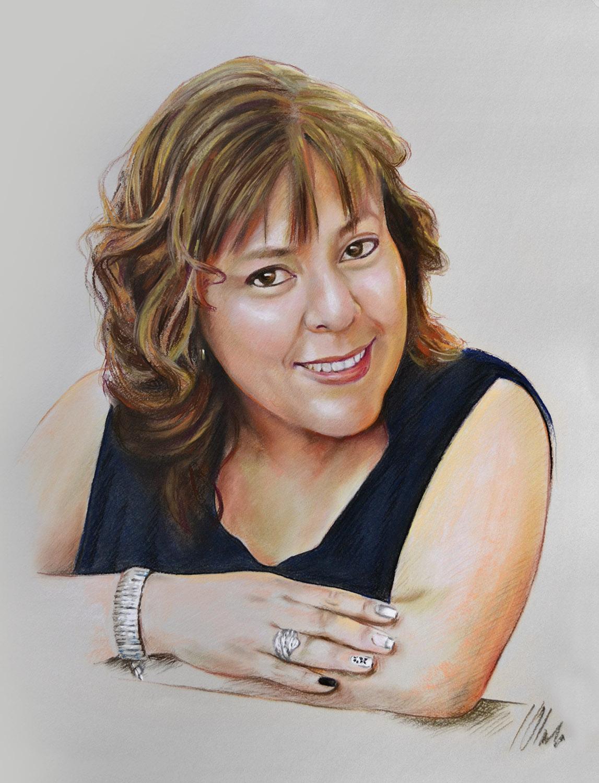 Patricia. Pastel, 50 x 65 cm. Javier Olmedo, año 2017