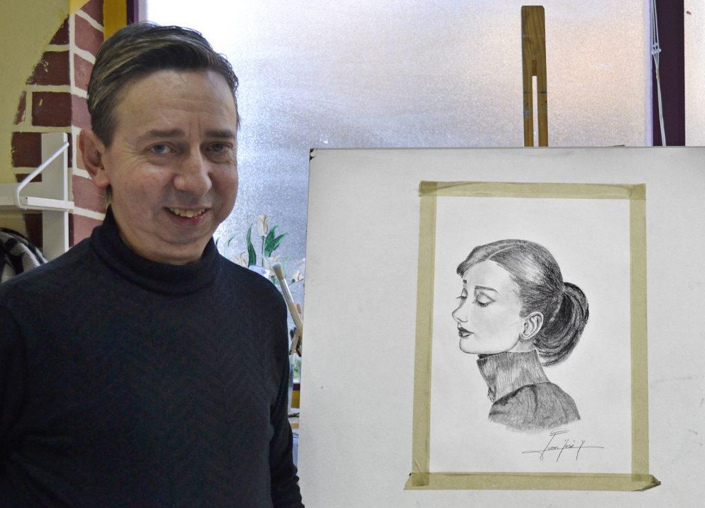 Juan Jose, grafito. Taller Aceña - Olmedo. Curso 2016 - 2017