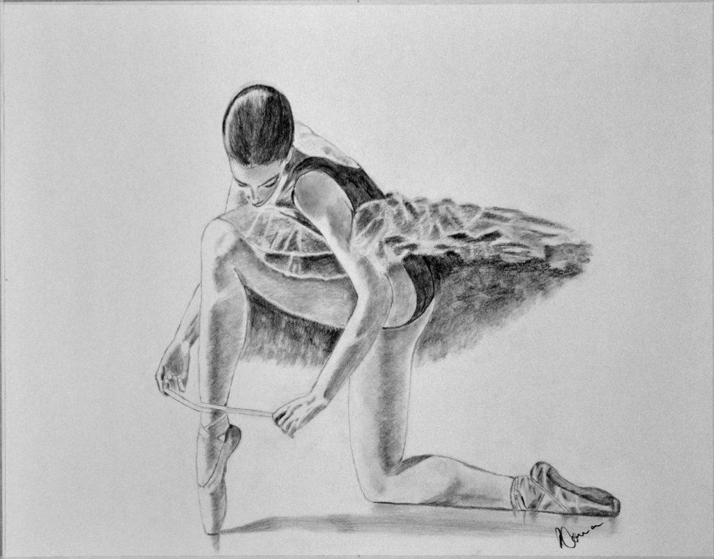 Roberta, grafito. Taller Aceña - Olmedo. Curso 2016 - 2017