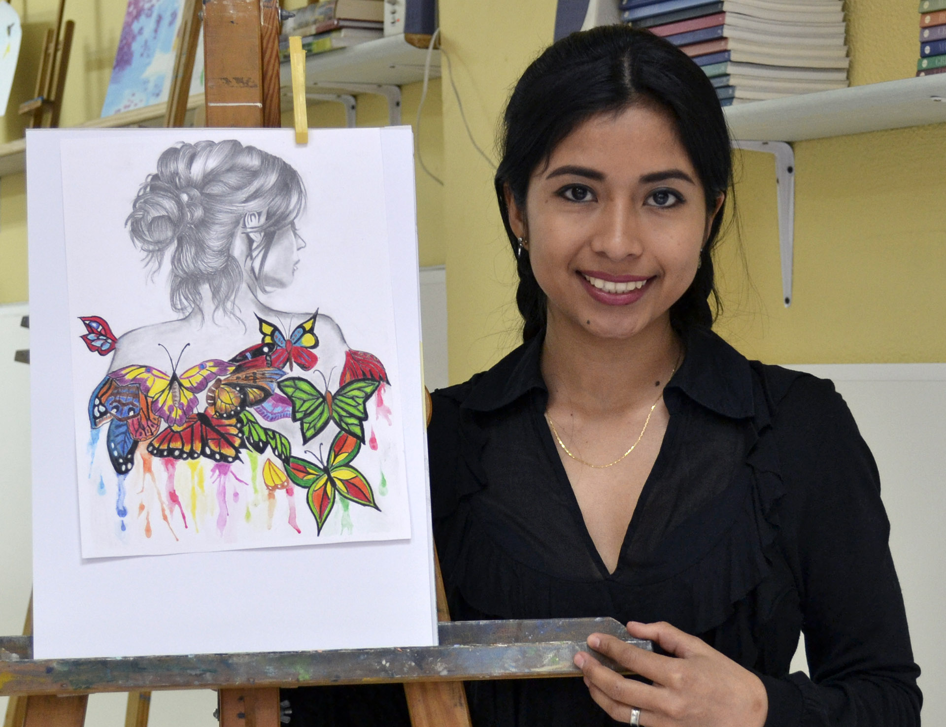 Marla, lápices de color. Taller Aceña - Olmedo. Curso 2016 - 2017