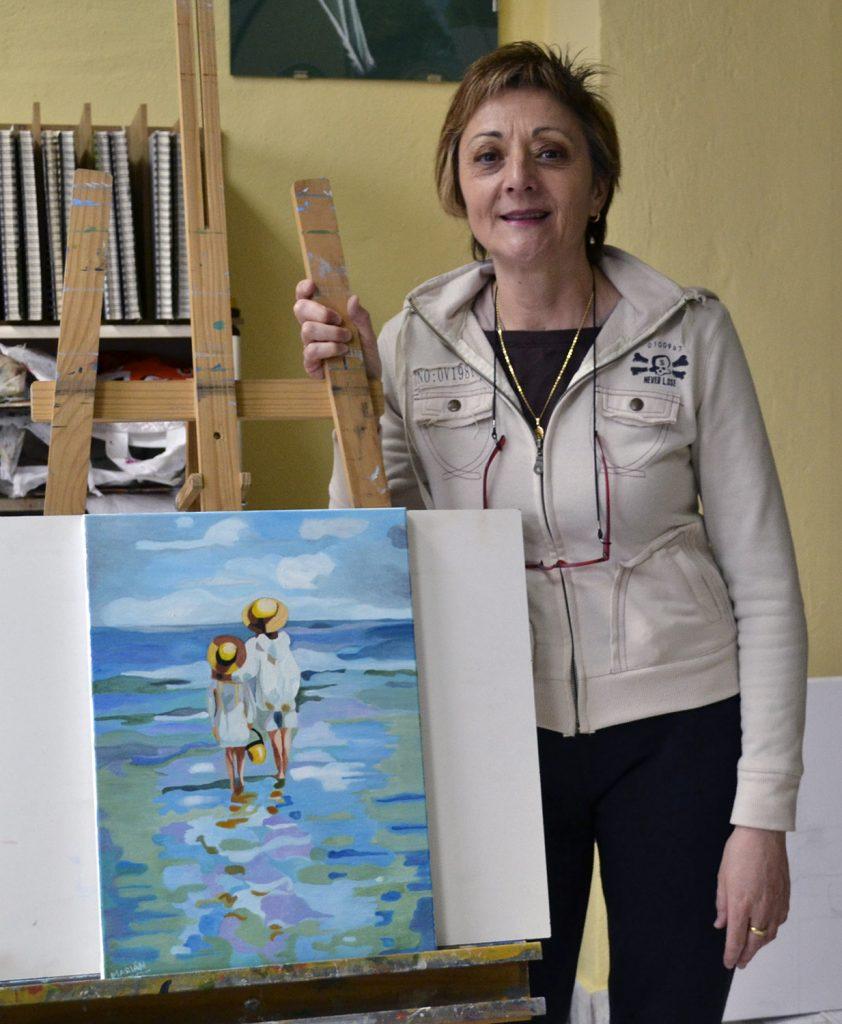 Marian, óleo. Taller Aceña - Olmedo. Curso 2016 - 2017