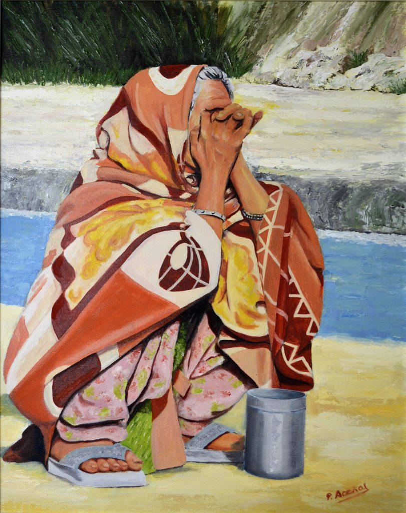 Serie Manos XIII. Pilar Aceña, óleo sobre lienzo, 70 x 55 cm. Año 2017