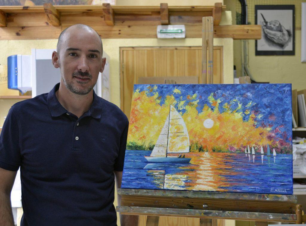 Eduardo, óleo. Taller Aceña - Olmedo. Curso 2016 - 2017