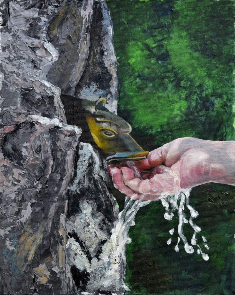 Serie Manos XIV. Pilar Aceña, óleo sobre lienzo. Año 2017