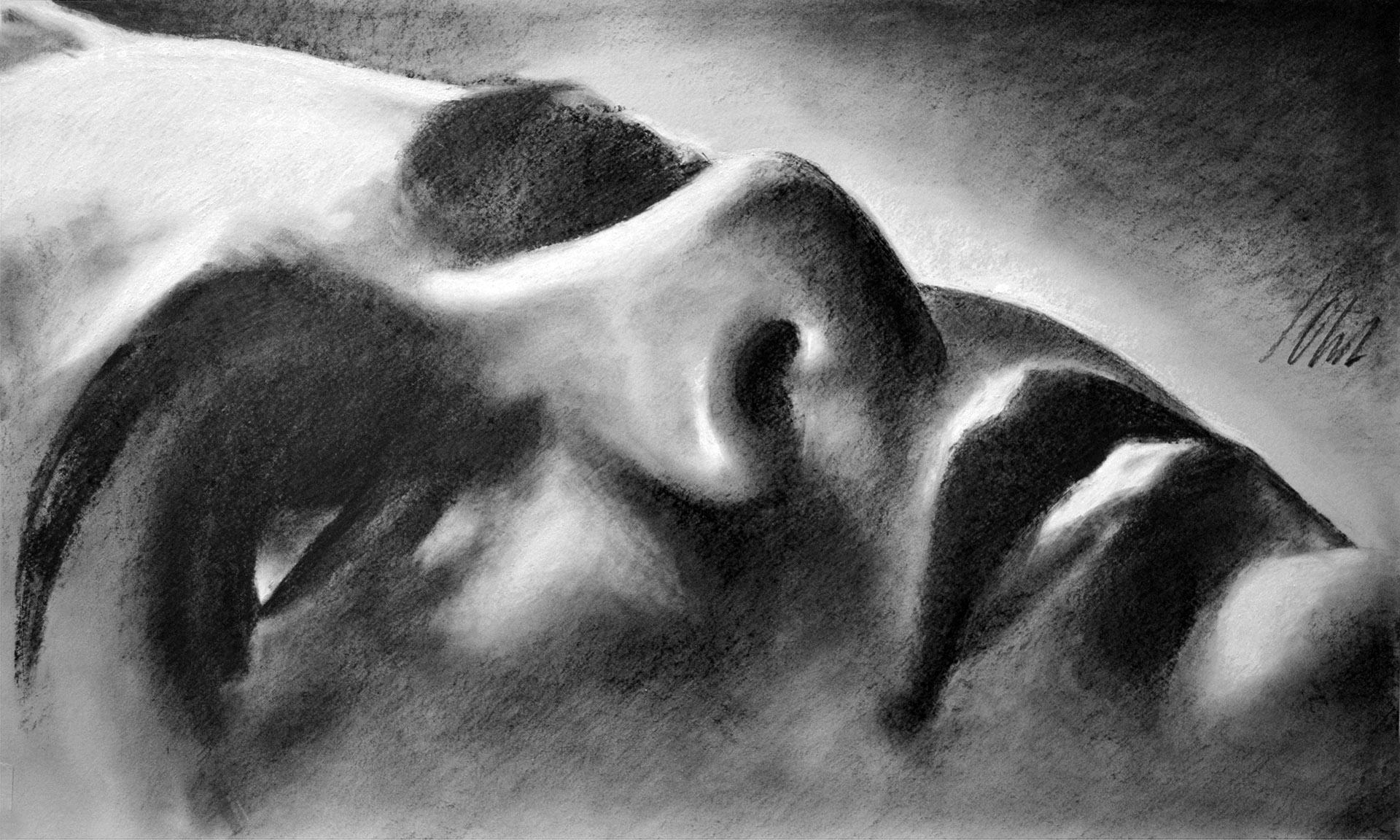 Javier Olmedo, grafito. 50 x 30 cm. 2017. PV 95 €
