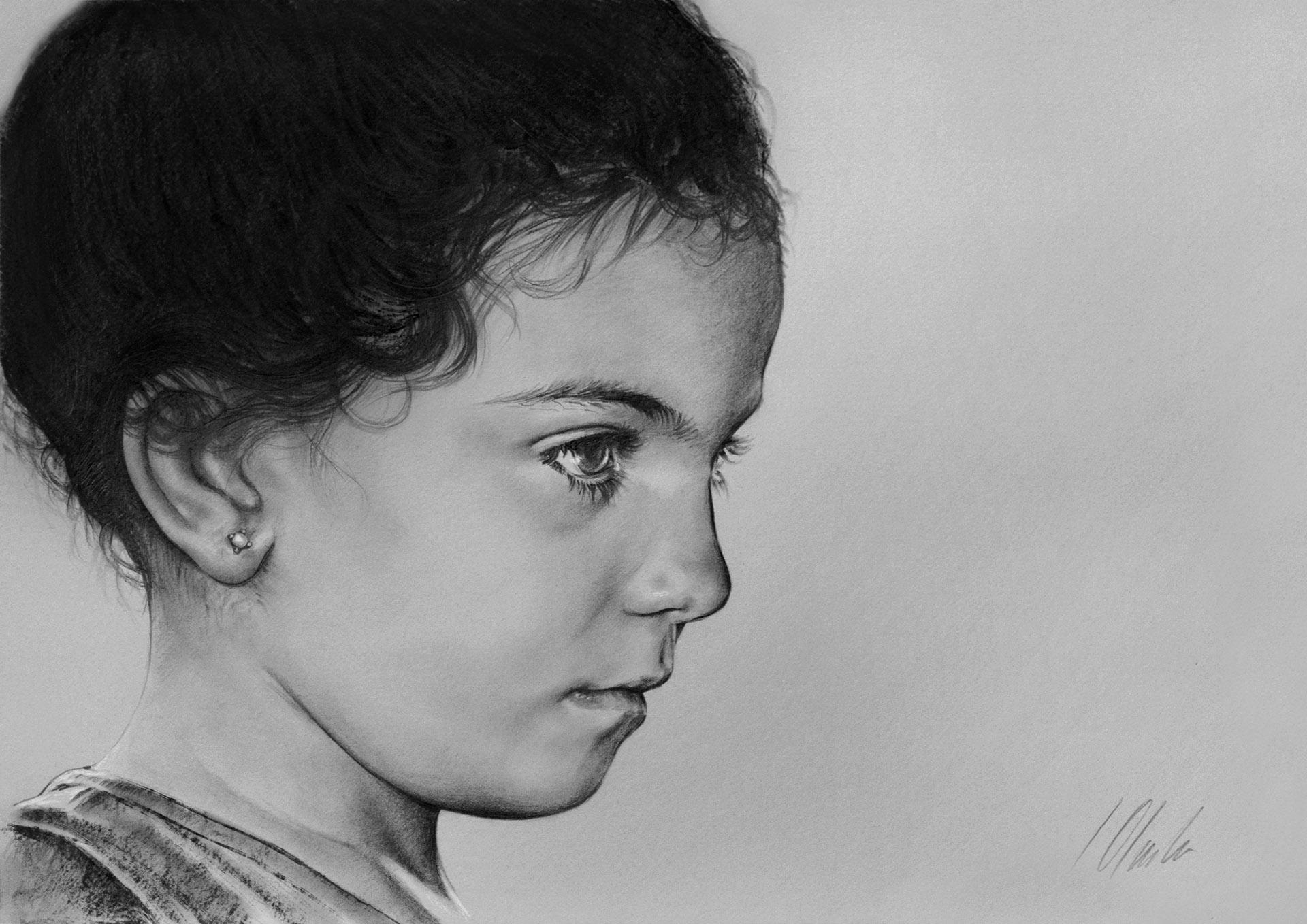 Aiala. Javier Olmedo, grafito. 50 x 35 cm. Año 2017