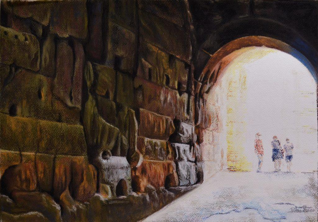 Coliseo. Pilar Aceña, pastel. 50x35 cm. 2017. PVP 125 €