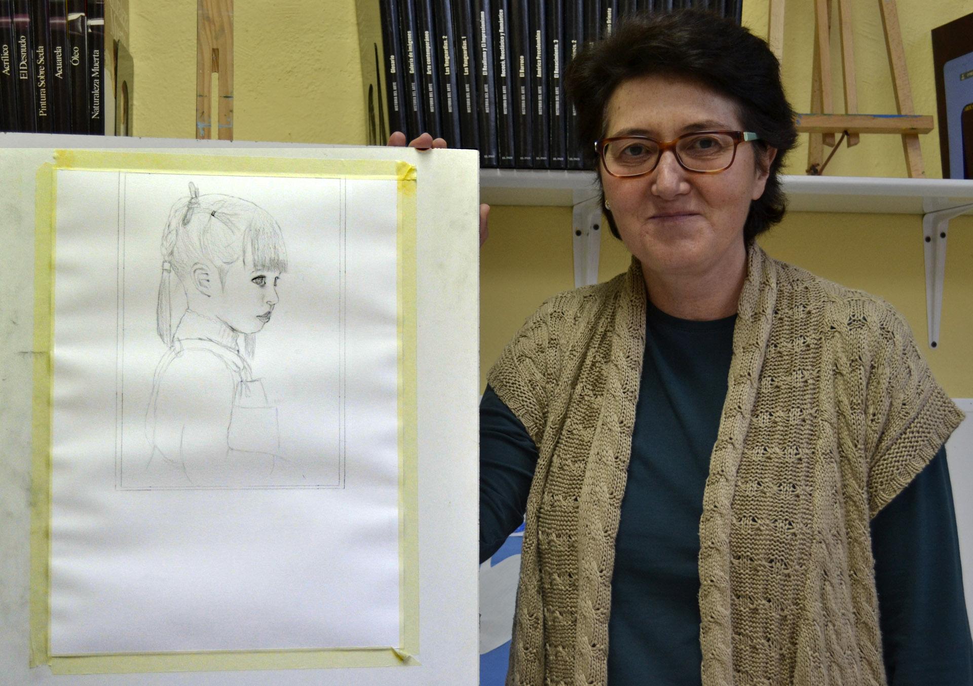 Mamen, grafito. Taller Aceña-Olmedo, curso 2017-2018