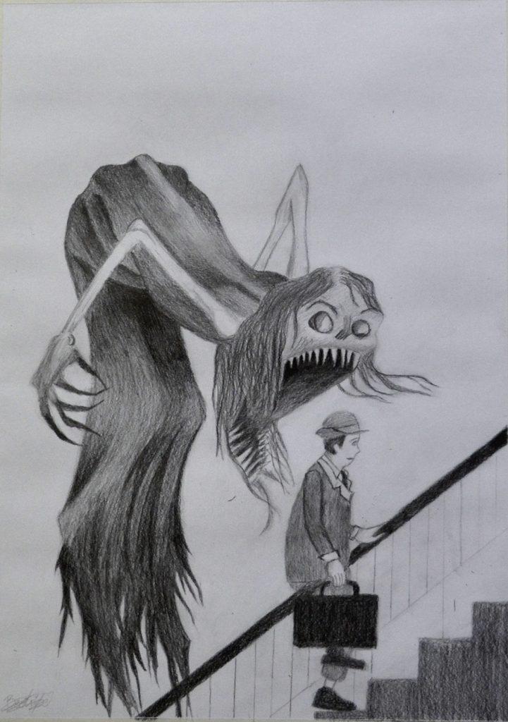 Bea, grafito. Taller Aceña-Olmedo, curso 2017-2018