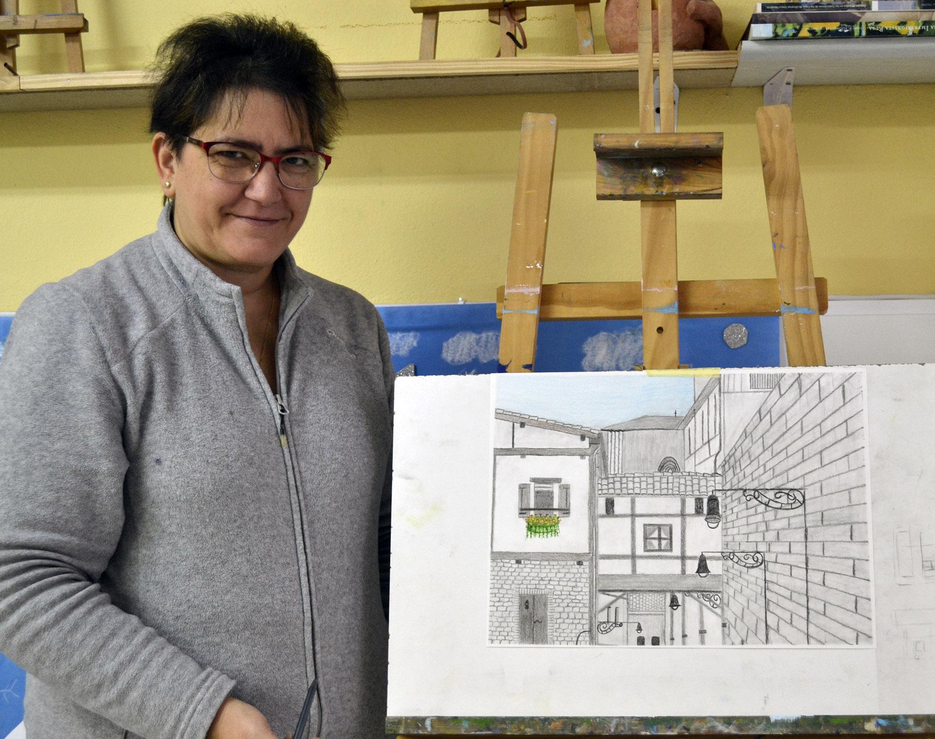 Vicenta, grafito. Taller Aceña-Olmedo, curso 2017-2018