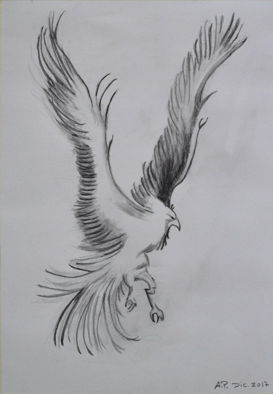 Alfredo, grafito. Taller Aceña-Olmedo, curso 2017-2018