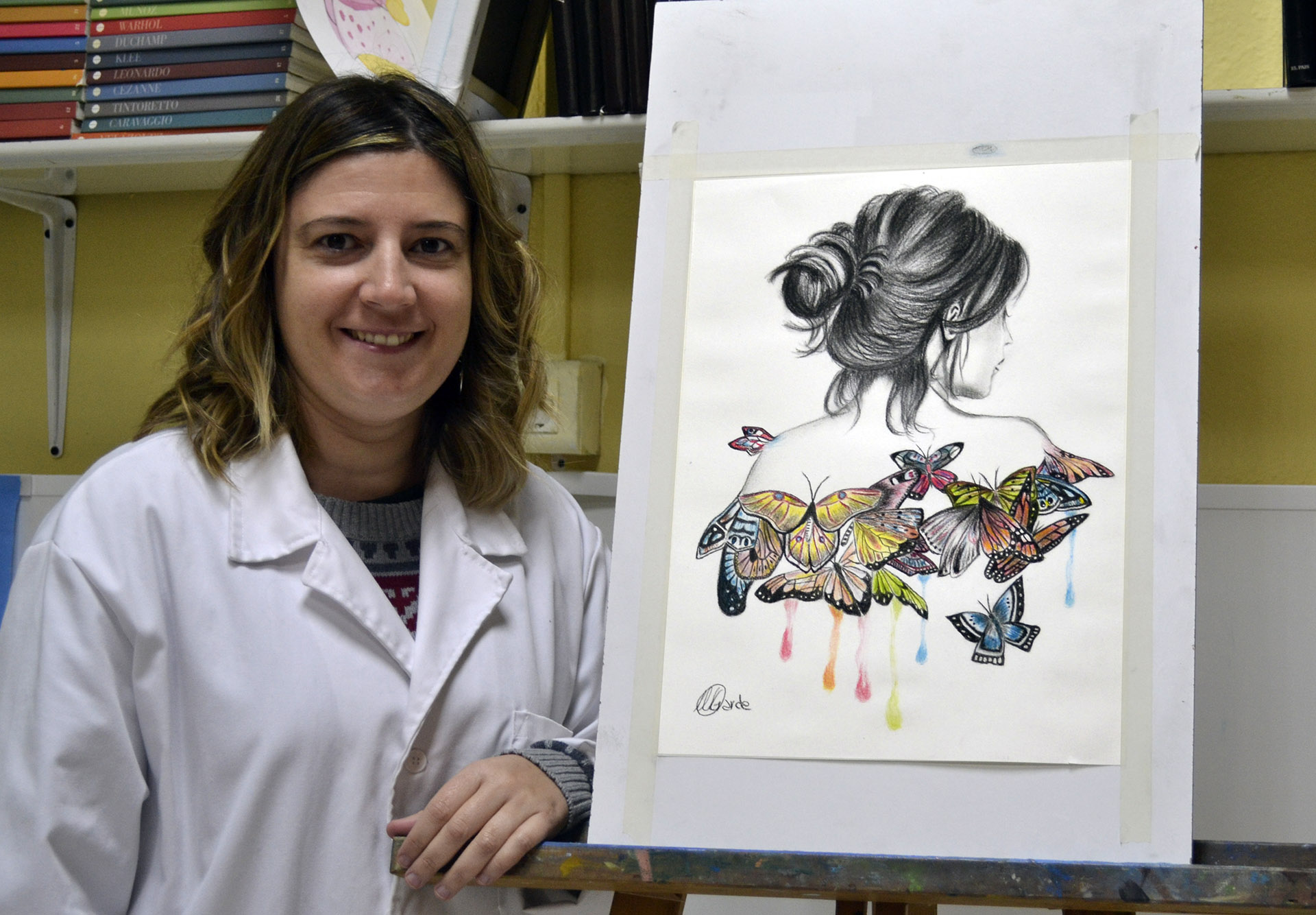 Maitane, pinturas acuarelables. Taller Aceña-Olmedo, curso 2017-2018