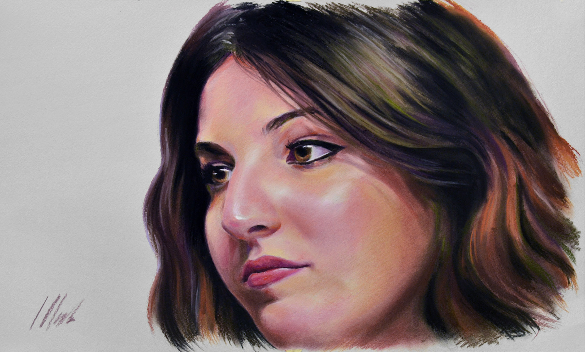 Sarai. Pastel, 50 x 29 cm. Javier Olmedo, 2018