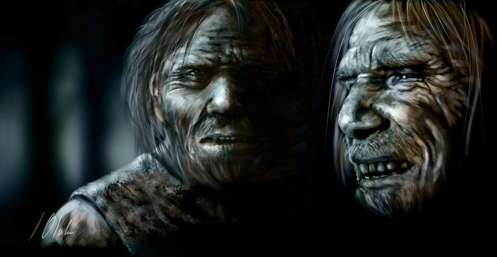 Neandertales, tableta gráfica. Javier Olmedo, 2018