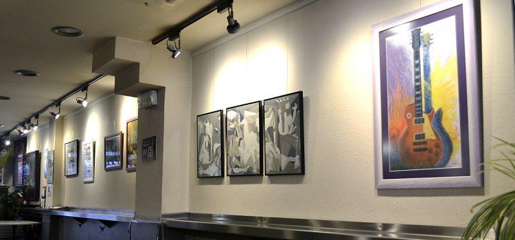 Fotografías de la exposición de alumnos, Bar Gartxot. Febrero y Marzo de 2018