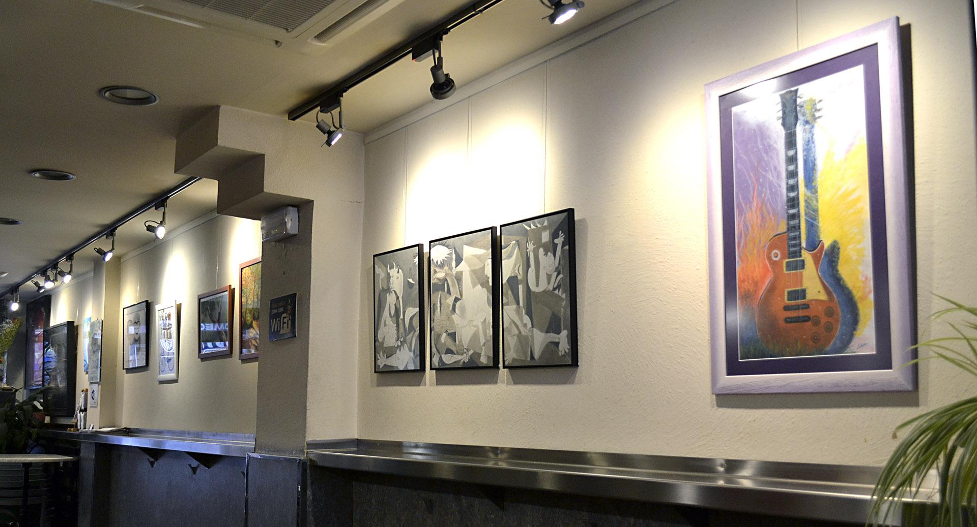 Exposición de alumnos Bar Gartxot, febrero y marzo 2018. Taller Aceña - Olmedo