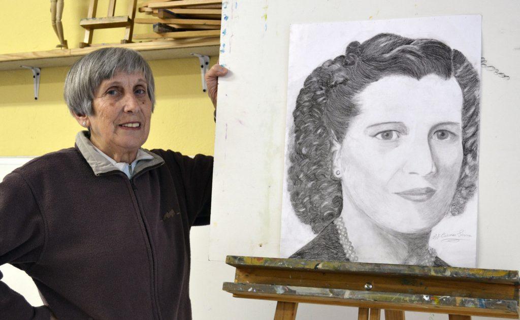 Mª Carmen, grafito. Taller Aceña-Olmedo, curso 2017-2018