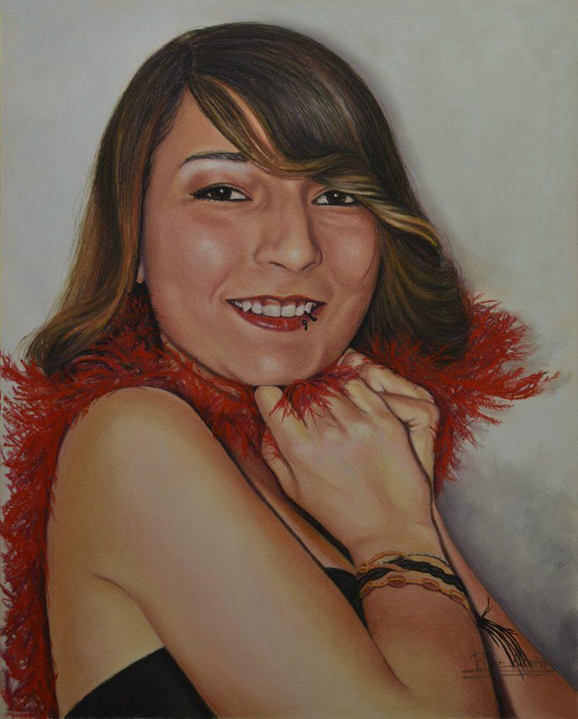 Pilar Aceña, pastel. 40 x 50 cm. 2018