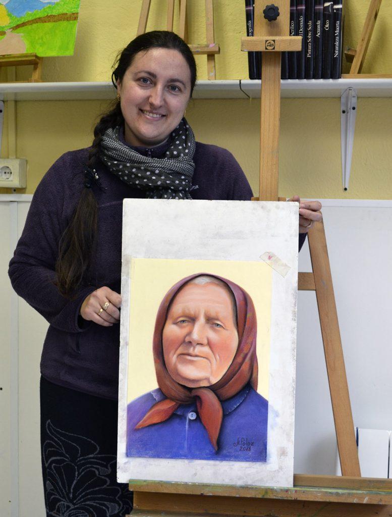 Ángela, pastel. Taller Aceña-Olmedo, curso 2017-2018