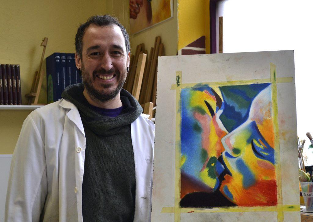 Raúl, pastel. Taller Aceña-Olmedo, curso 2017-2018