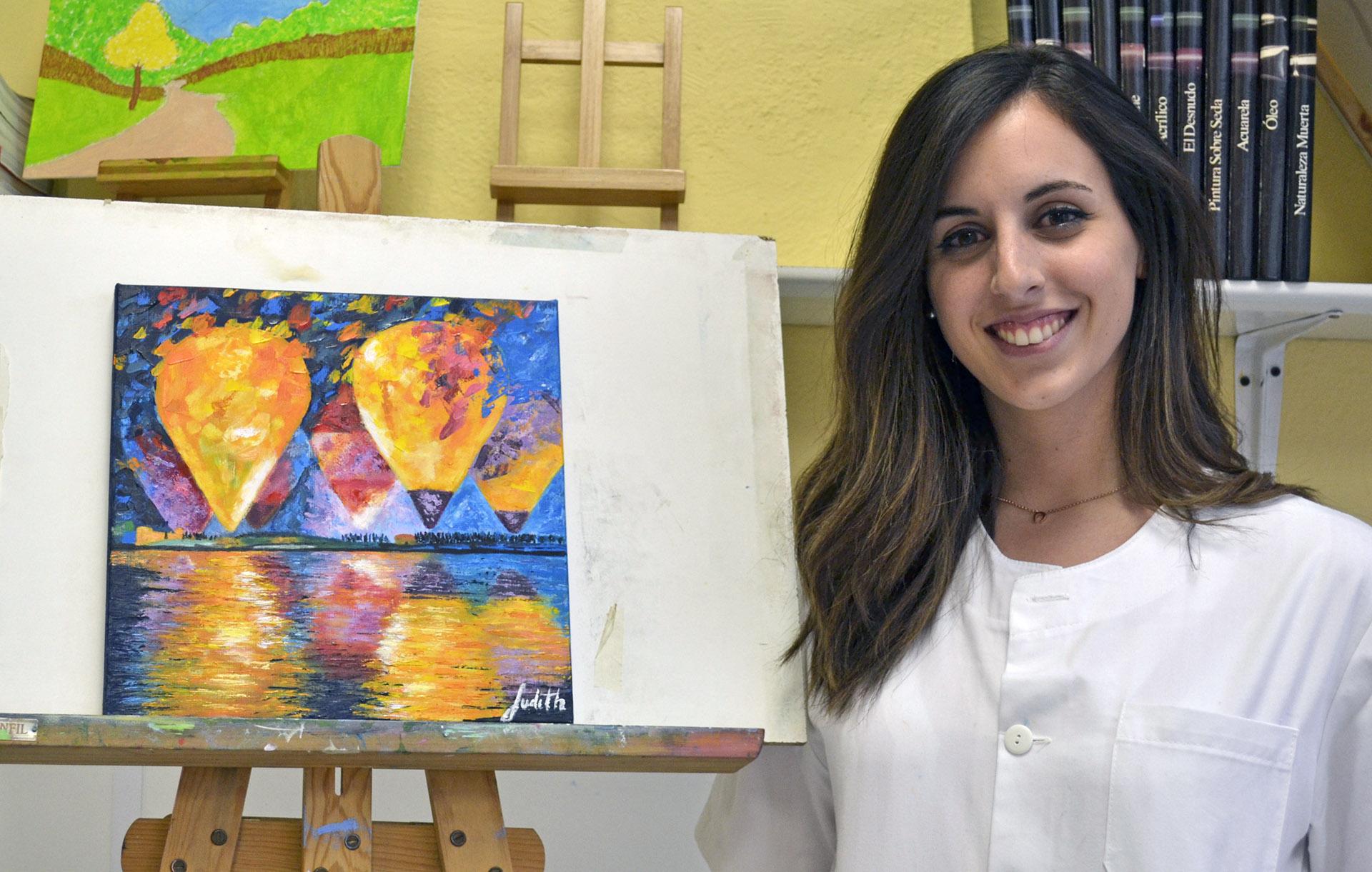 Judith, óleo. Taller Aceña-Olmedo, curso 2017-2018