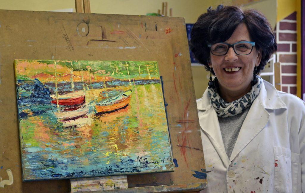 Mª Carmen Arandigoien, óleo. Taller Aceña-Olmedo, curso 2017-2018