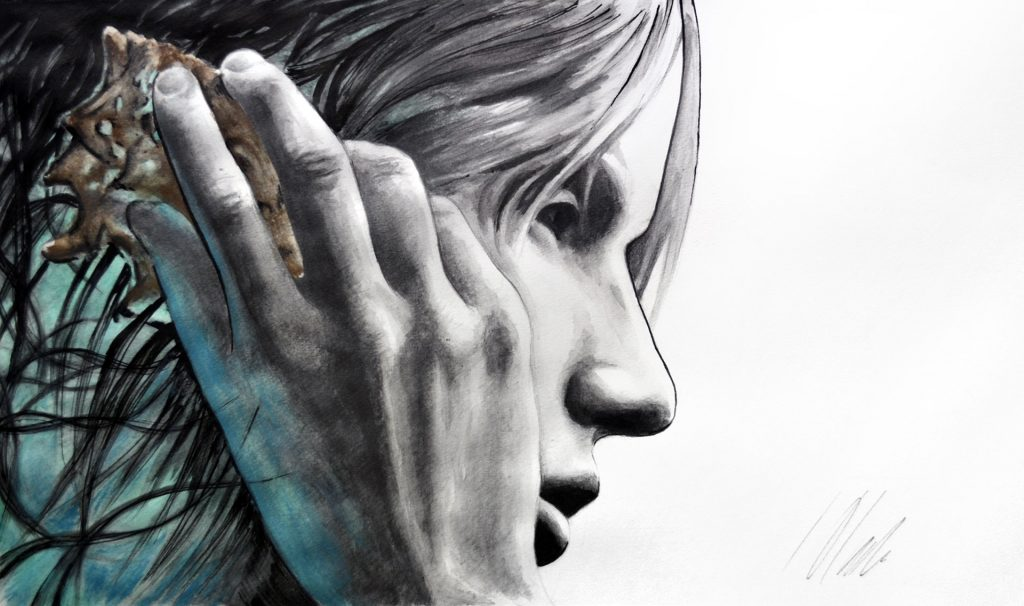 Javier Olmedo, técnica mixta. 50 x 30 cm. 2018
