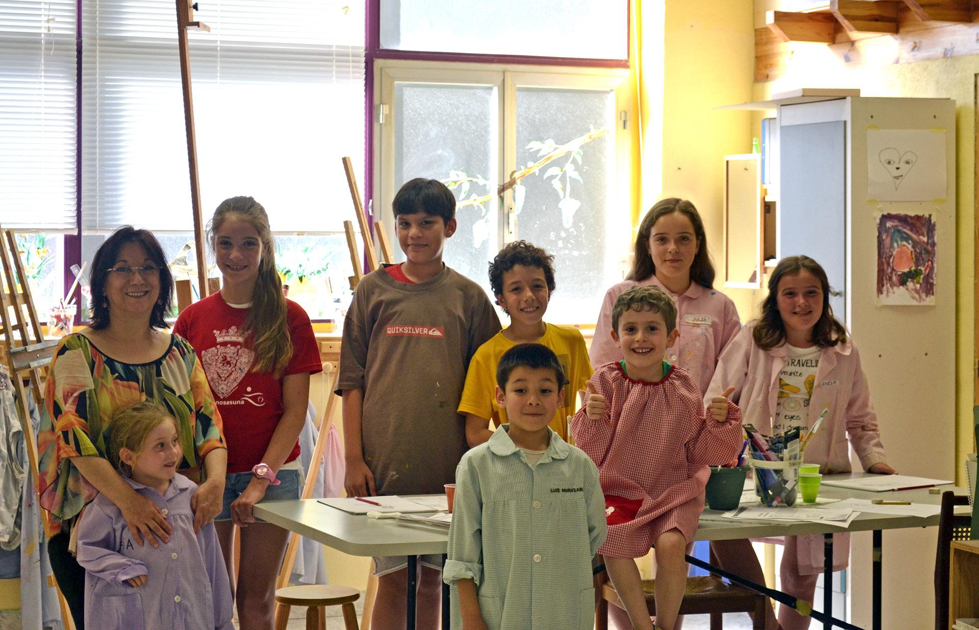 Último día de clase, los peques con Pilar. Taller Aceña-Olmedo, curso 2017-2018