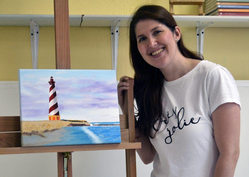 Patricia, óleo. Taller Aceña-Olmedo, curso 2017-2018