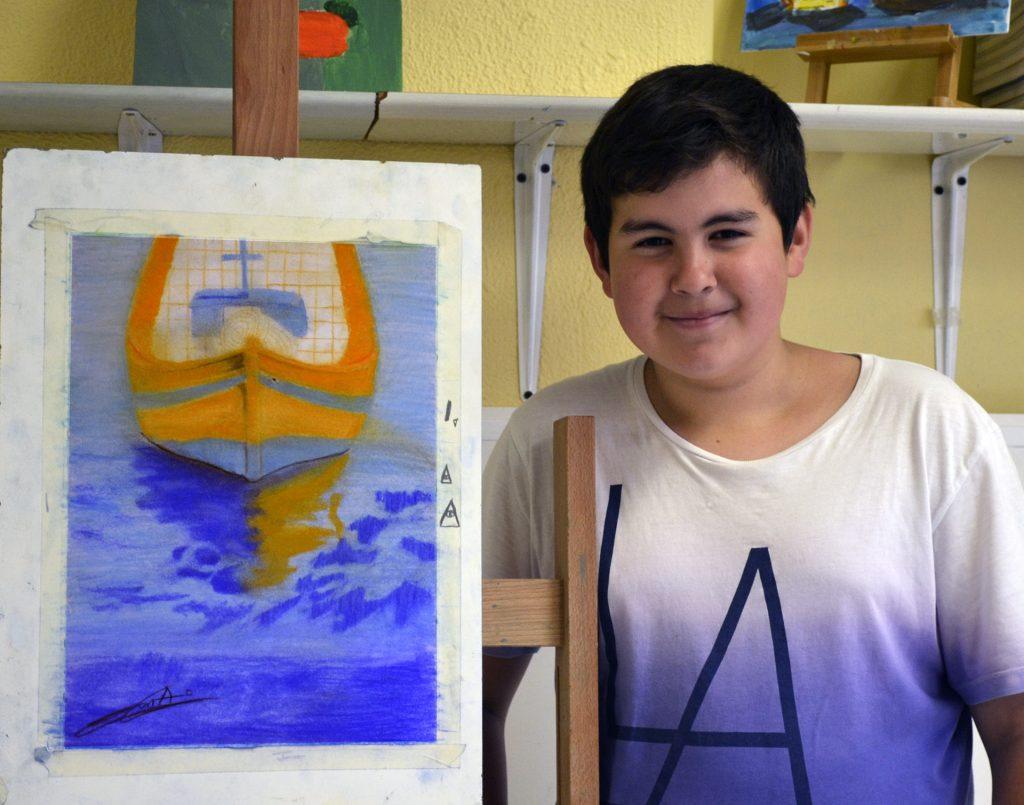Jolander, pastel. Taller Aceña-Olmedo, curso 2017-2018