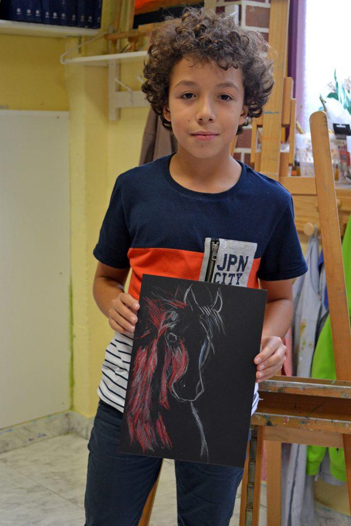 Adrian, pastel. Taller Aceña - Olmedo, curso 2018-2019