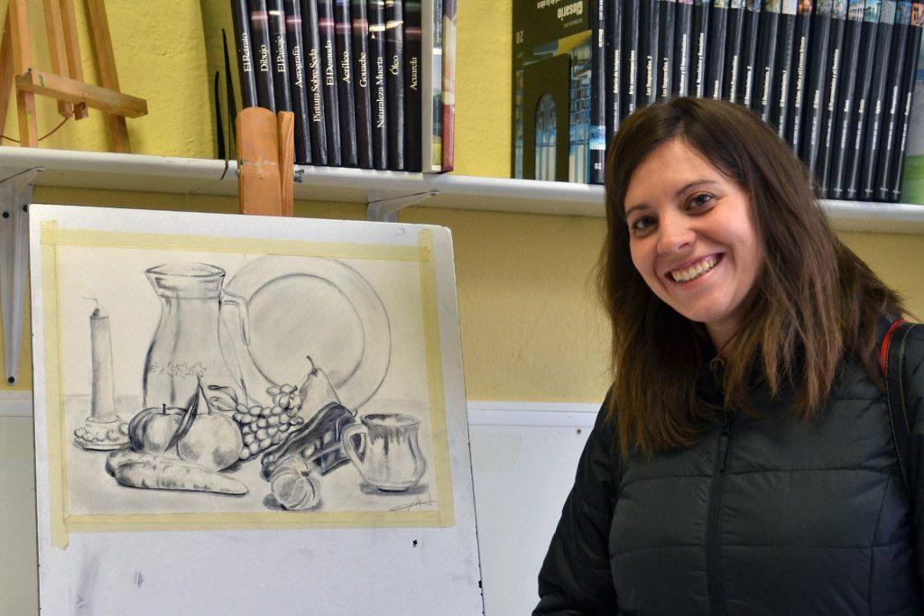 Marta Elarre, grafito. Taller Aceña - Olmedo, curso 2018-2019