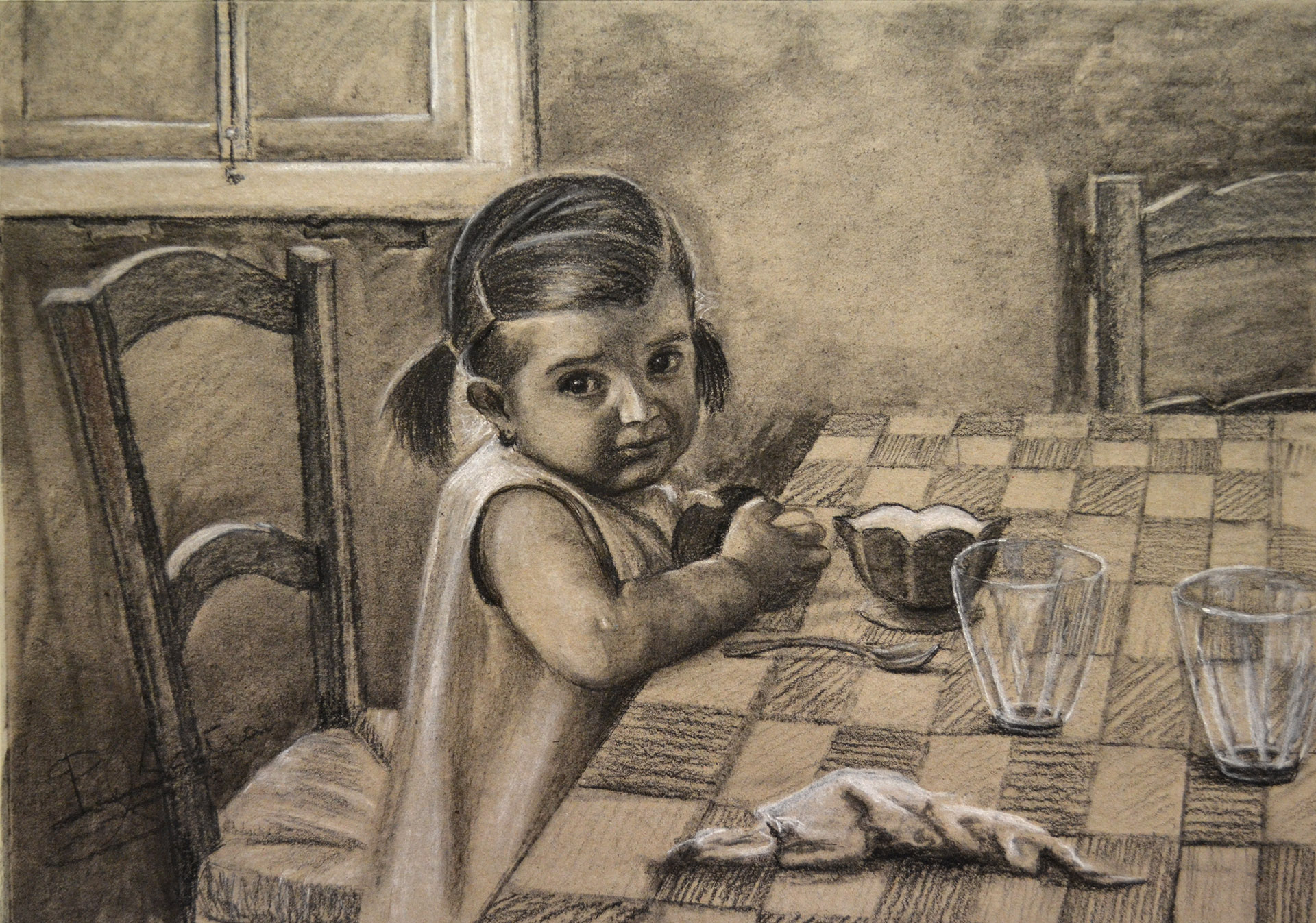 Carboncillo, Pilar Aceña. 42 x 30 cm. Año 2018