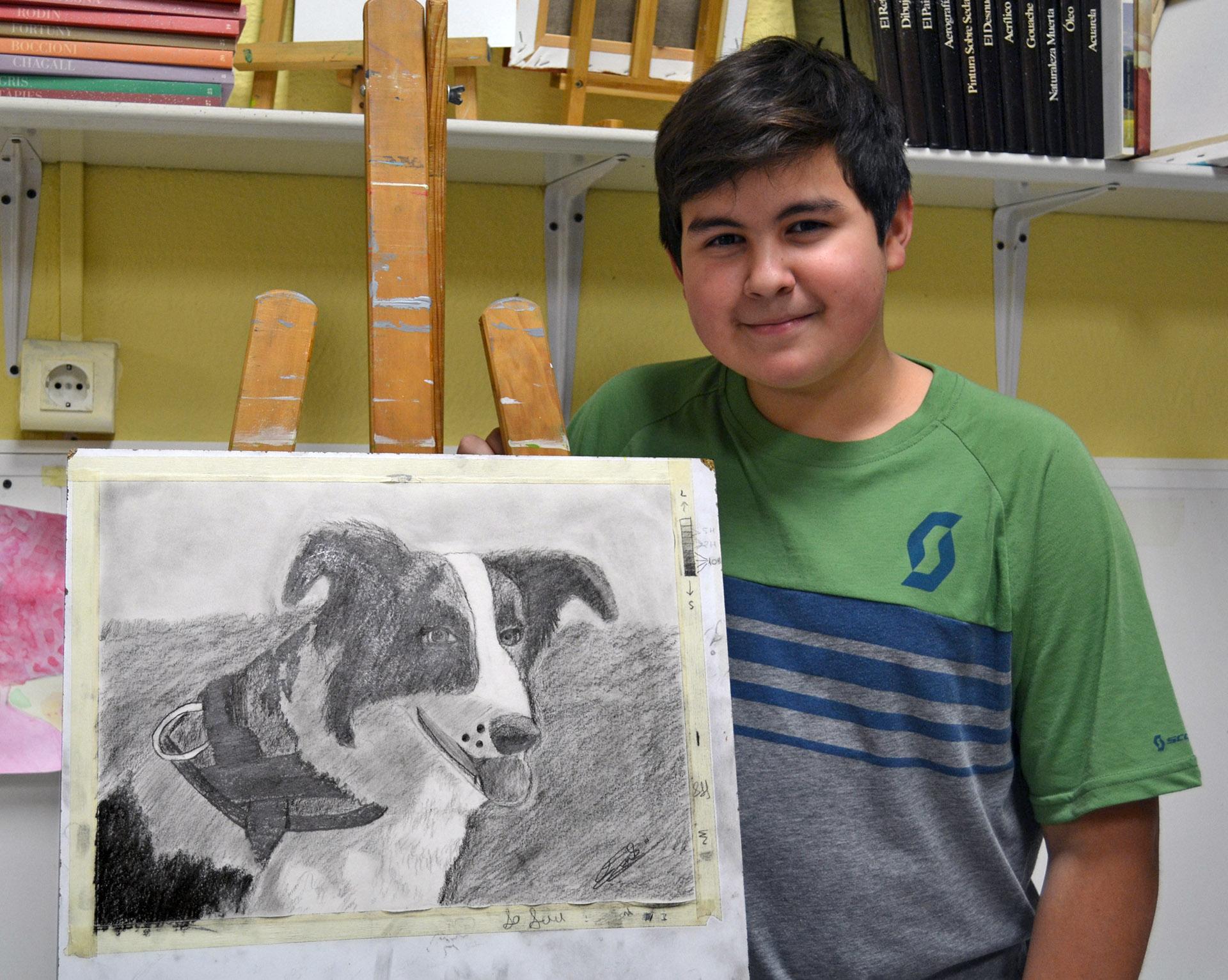 Jon Ander, pastel. Taller Aceña - Olmedo, curso 2018-2019